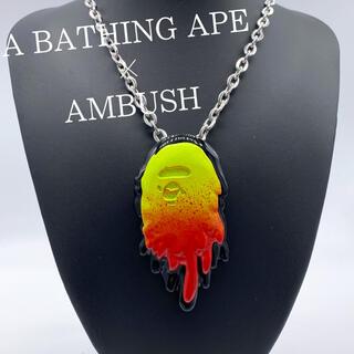 アベイシングエイプ(A BATHING APE)の【新品 未使用 レア】アベイシングエイプ×アンブッシュ ネックレス コラボ(ネックレス)