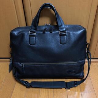 トゥミ(TUMI)の【お値下げ】TUMI  ビジネスバッグ 本革 ブラック(ビジネスバッグ)