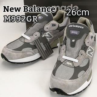ニューバランス(New Balance)の★新品★26cm/D★ニューバランス M992GR グレー メンズ スニーカー(スニーカー)