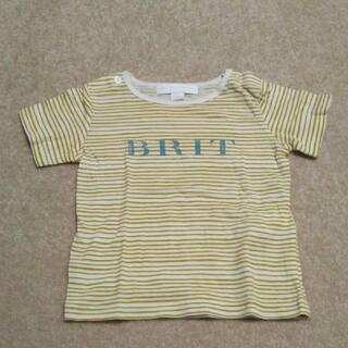 バーバリー(BURBERRY)のバーバリー ボーダー からし色 半袖 tシャツ ベビー イエロー 80(Tシャツ)