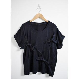 ヨシオクボ(yoshio kubo)のmuller of yoshiokubo ミュラーオブヨシオクボ リボンTシャツ(Tシャツ(半袖/袖なし))