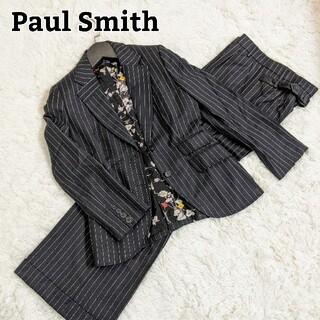 Paul Smith - ポールスミスブラック スーツセットアップ 裏地 花柄 マルチストライプ