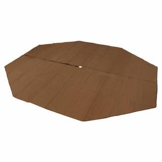 ドッペルギャンガー(DOPPELGANGER)のDODワンポールテント L用マット L BR(ブラウン) MA8-771-BR(テント/タープ)