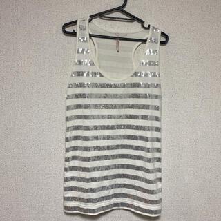 ピーチジョン(PEACH JOHN)のピーチジョン☆スパンコールボーダーデザインタンク・チュニック(Tシャツ(半袖/袖なし))