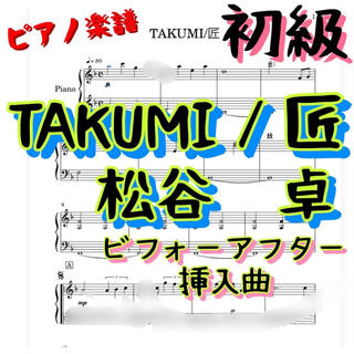 ピアノ楽譜 初級 TAKUMI/匠 松谷 卓(ポピュラー)