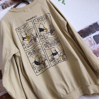 サマンサモスモス(SM2)のSM2 ディズニーコラボ くまのプーさん 限定品 バックプリント ロンT(Tシャツ(長袖/七分))