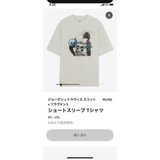 ナイキ(NIKE)のジョーダン×トラヴィススコット×フラグメント ショートスリーブTシャツ(Tシャツ/カットソー(半袖/袖なし))