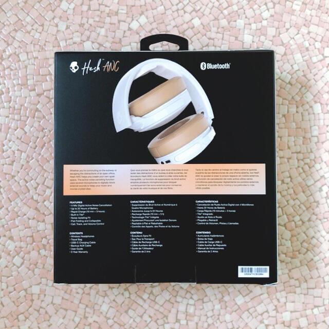 Skullcandy(スカルキャンディ)のスカルキャンディーヘッドホン       HESH ANC MOD WHITE  スマホ/家電/カメラのオーディオ機器(ヘッドフォン/イヤフォン)の商品写真