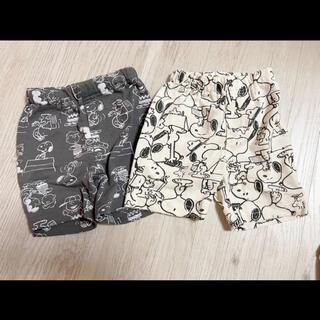 スヌーピー(SNOOPY)の【ほぼ未使用】 スヌーピー  パンツ 半ズボン 短パン ベビー服 80 セット(パンツ)