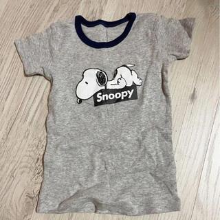 スヌーピー(SNOOPY)の【ほぼ未使用】 スヌーピー  シャツ Tシャツ ベビー服 グレー 80(Tシャツ)