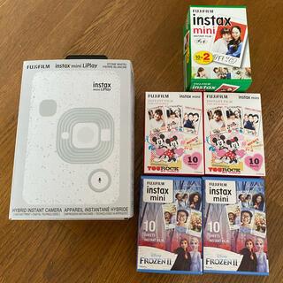 フジフイルム(富士フイルム)のFUJI FILM INSTAX MINI LIPLAY STONE WHITE(フィルムカメラ)