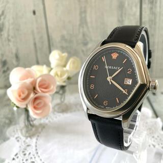 ジャンニヴェルサーチ(Gianni Versace)の【動作OK】VERSACE ヴェルサーチ 腕時計 メンズ シルバー(腕時計(アナログ))