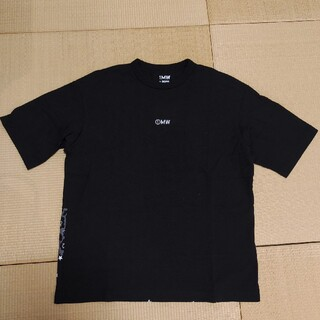 ソフ(SOPH)のGU × 1MW by SOPH ビッグT 黒 Mサイズ Tシャツ ソフ (Tシャツ/カットソー(半袖/袖なし))