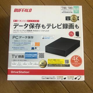 バッファロー(Buffalo)の バッファロー HD-EDS6U3-BC ブラック HDD:6TB(その他)