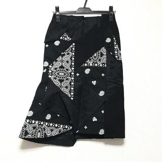 サカイ(sacai)のサカイ ロングスカート サイズ0 XS美品  -(ロングスカート)