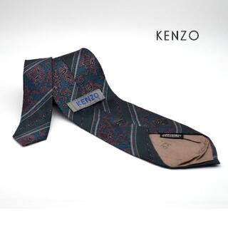 ケンゾー(KENZO)の《一点物》KENZO PARIS ネクタイ グリーン シルク100% 深い光沢(ネクタイ)
