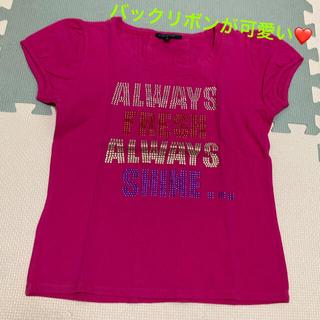 プライドグライド(prideglide)のprideglide ピンクTシャツ バックリボン(Tシャツ(半袖/袖なし))