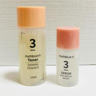 ナンバーナイン(NUMBER (N)INE)のナンバーズイン 3番 未使用 うるツヤ発酵トナー すべすべキメケアセラム(サンプル/トライアルキット)