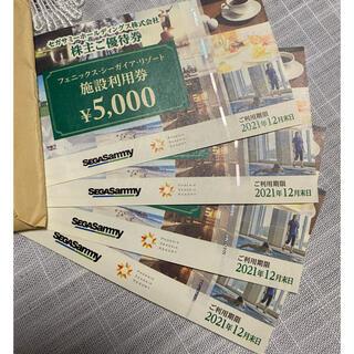 セガ(SEGA)のフェニックスシーガイアリゾート 株主優待 セガサミー 20000円分(その他)