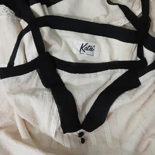 ケイティー(Katie)のKatie カットドビー ドット コットン ワンピース バイカラー (ひざ丈ワンピース)