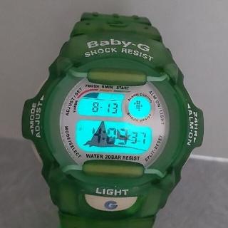 ベビージー(Baby-G)のBaby-G 370 wccs カスタム染色グリーン💚(腕時計)