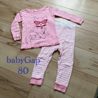 ベビーギャップ(babyGAP)の長袖パジャマ 80 babyGap  女の子(パジャマ)
