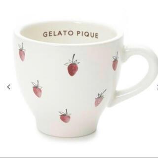 ジェラートピケ(gelato pique)の新品未使用❤️ジェラートピケ ストロベリーマグカップ(グラス/カップ)