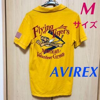 アヴィレックス(AVIREX)のアビレックス★フライングタイガー 鹿の子 ポロシャツ★虎 刺繍 黄色 マスタード(ポロシャツ)