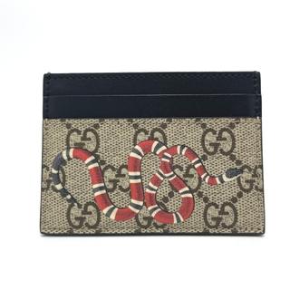 グッチ(Gucci)の美品 グッチ 451277 GGスプリーム キングスネーク カードケース(名刺入れ/定期入れ)