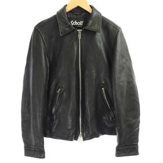 ショット(schott)のショット 近年モデル ライダース レザージャケット シングル 羊革 L 黒(ブルゾン)