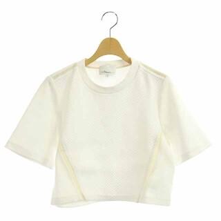 スリーワンフィリップリム(3.1 Phillip Lim)の3.1 フィリップリム サイドラインショートカットソー シルク 半袖 0 白(カットソー(半袖/袖なし))
