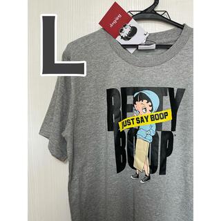 ベティ Lサイズ ベティブープ Tシャツ グレー ねずみ色 半袖(Tシャツ/カットソー(半袖/袖なし))