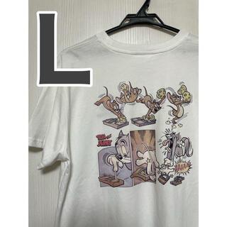 トムとジェリー Tシャツ Lサイズ 男女兼用 Tシャツ 半袖 ホワイト 白(Tシャツ(半袖/袖なし))