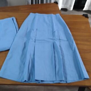 水色スカート 2枚セット(ひざ丈スカート)