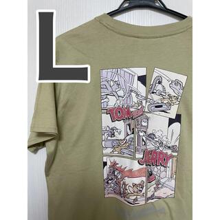 トムとジェリー Tシャツ Lサイズ 男女兼用 Tシャツ 半袖 からし色(Tシャツ(半袖/袖なし))