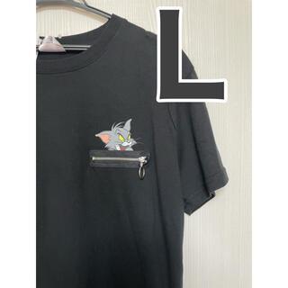 トムとジェリー Tシャツ Lサイズ 男女兼用 Tシャツ 半袖 ブラック 黒(Tシャツ(半袖/袖なし))
