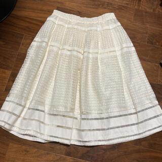 エージーバイアクアガール(AG by aquagirl)の高級レース膝丈フレアスカート(ひざ丈スカート)
