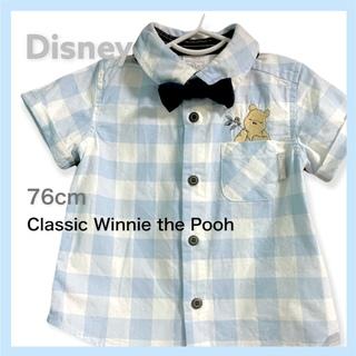 ディズニー(Disney)のクラシック プーさん チェックシャツ(シャツ/カットソー)