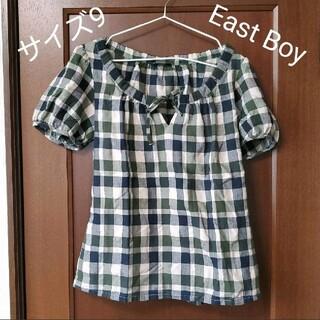 イーストボーイ(EASTBOY)のチェック柄パフスリーブカットソー(シャツ/ブラウス(半袖/袖なし))