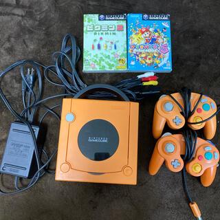 ゲームキューブ オレンジ ピクミン2.マリオパーティ付き(家庭用ゲーム機本体)