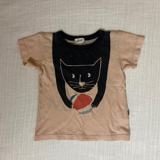 oeuf ネコ Tシャツ ピンク(Tシャツ/カットソー)