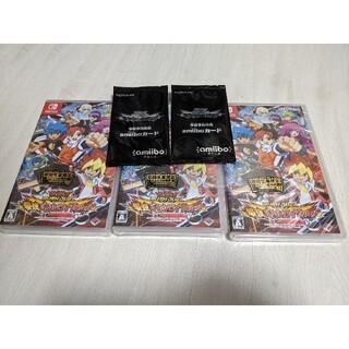 遊戯王 ラッシュデュエル 初回生産限定盤 3セット amiiboカード付(家庭用ゲームソフト)