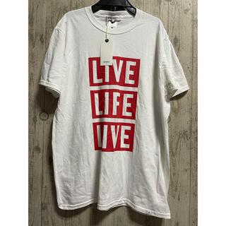 マーキュリーデュオ(MERCURYDUO)の新品 フルーツオブザルーム マークスタイラー Tシャツ メンズ Lサイズ 白 (Tシャツ/カットソー(半袖/袖なし))