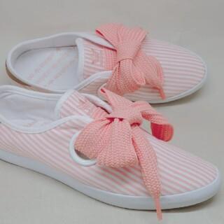 アディダス(adidas)の美品♥️adidas アディダス リボン リレースロー シューズ スニーカー(スニーカー)