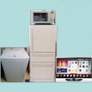ムジルシリョウヒン(MUJI (無印良品))の無印良品3ドア冷蔵庫、4,5Kg洗濯機他2点。動作保証・配送・設置いたします(冷蔵庫)
