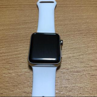 アップルウォッチ(Apple Watch)のapple watch series 3 38mmセルラー ステンレス (腕時計(デジタル))