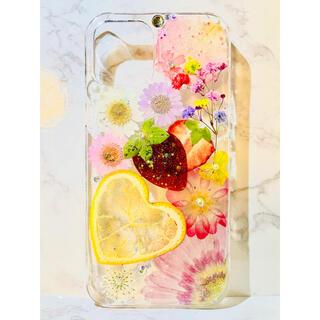 iPhoneケース、iPhoneカバー、押し花ケース、スマホケース、押しフルーツ(iPhoneケース)