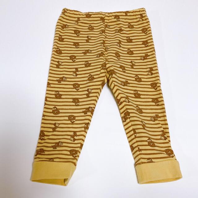 チップ&デール(チップアンドデール)のUNIQLO 長ズボン チップとデール キッズ/ベビー/マタニティのベビー服(~85cm)(パンツ)の商品写真