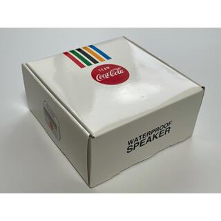 コカコーラ(コカ・コーラ)のコカコーラ オリジナル 防水スピーカー ボーダー柄(スピーカー)