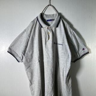 Champion - 【チャンピオン】90'sポロシャツ 刺繍 古着 usedV2